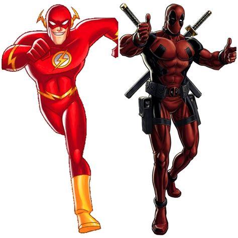 Flash Marvel marvel vs dc flash vs deadpool by awkwardshade on deviantart