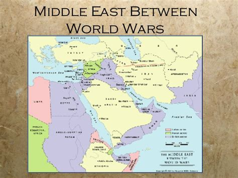 middle east map after middle east since wwi