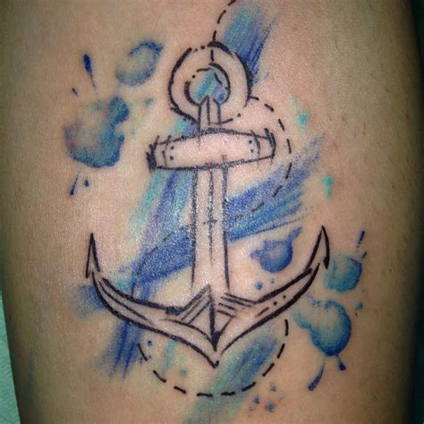 watercolor tattoo anchor watercolor anchor tremarella roma by
