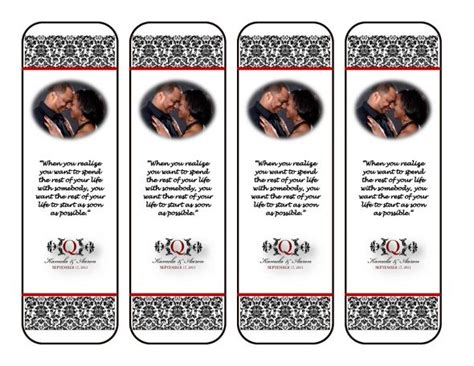 7 Best Images Of Free Wedding Printable Bookmarks Free Wedding Bookmark Favor Template Free Wedding Bookmarks Templates Free
