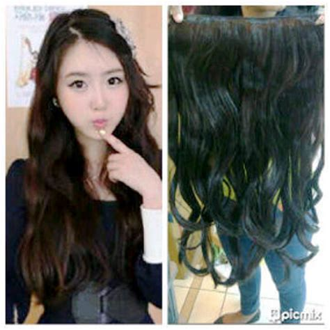 Jual Rambut Sambung Hair Clip jual hair clip human hair curly indian remy hair