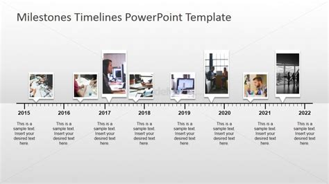 milestone powerpoint template timeline with pictures milestones for powerpoint slidemodel