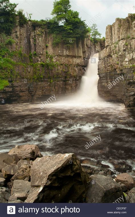 high force waterfall on the river tees photo walking britain high force waterfall on the river tees county durham