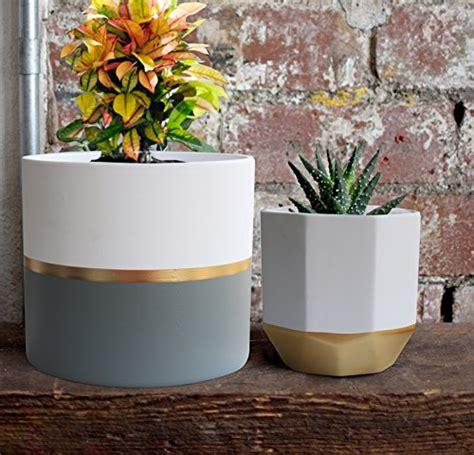 white ceramic flower pot garden planters  pack