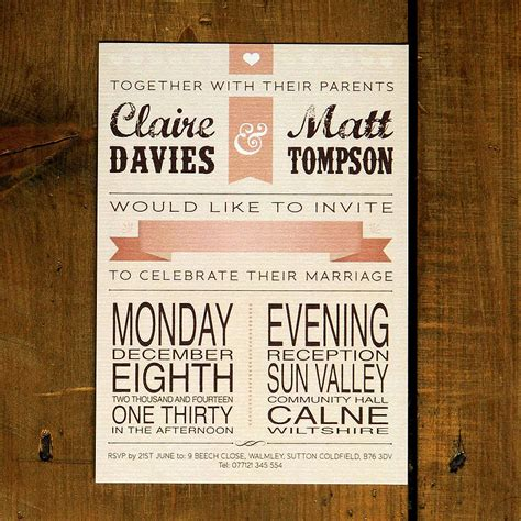 Wedding Invitation Vintage by Vintage Poster Wedding Invitation By Feel Wedding