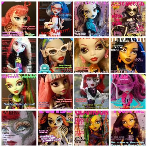 doll magazine free high printables fierce ghouls