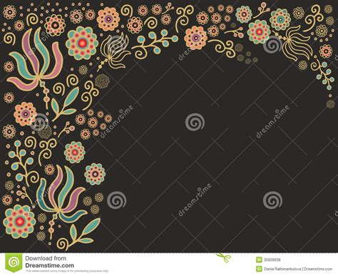 batik pattern border seamless floral border pattern royalty free stock photos