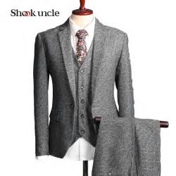 colored suits 2017 rushed retro light colored grey tweed custom made