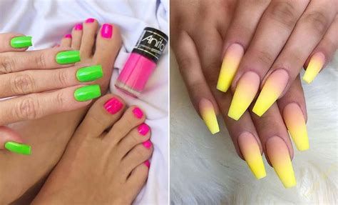 neon color nails 23 neon nail designs that are for summer stayglam