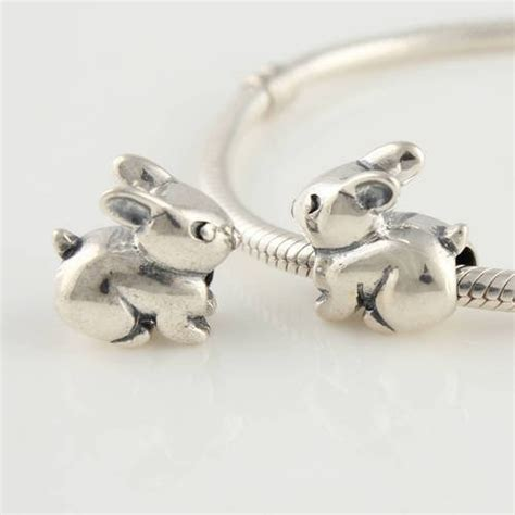 bunny rabbit 925 sterling silver charms for pandora