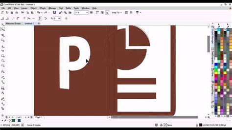 membuat logo corel draw x7 cara membuat logo power point 2013 corel draw x7 youtube