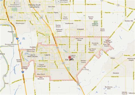 Garden City Modesto by Elk Grove California Map