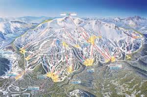 southern california ski resorts map mammoth mountain ski area trail map