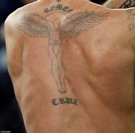 david beckham tattoos back david beckham s 40 tattoos and the special meaning