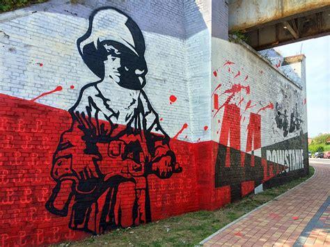 patriotyczny mural sierobipl