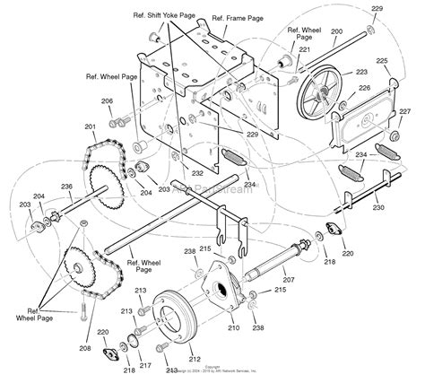 murray snowblower parts diagram murray 627904x16b dual stage snow thrower 2004 parts