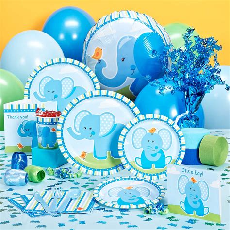 Elephant Baby Shower Plates And Napkins by Baby Shower Accessories Favors Ideas