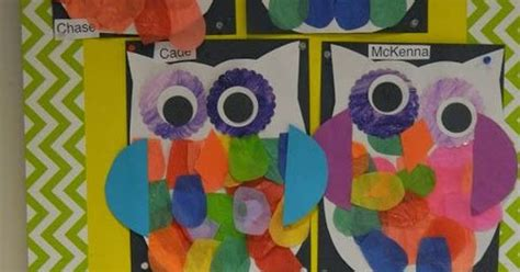kindergarten lesson on texture and pattern owls preschool owls a cute project to use during your owl