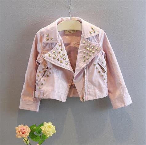 Od Jelly Flower Jaket Black 2015 new leather jacket fashion baby coats jackets