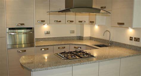 modern kitchen a modern kitchen with grey worktops to
