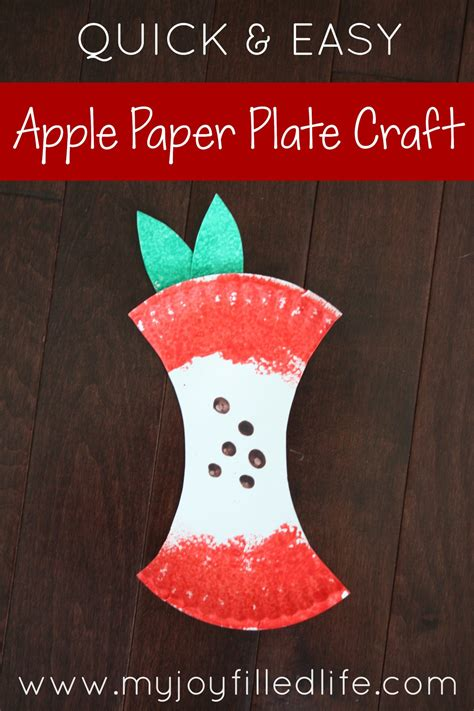 Paper Plate Apple Craft - easy apple paper plate craft my filled