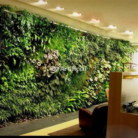 artificial garden vertical plants wall for indoor and