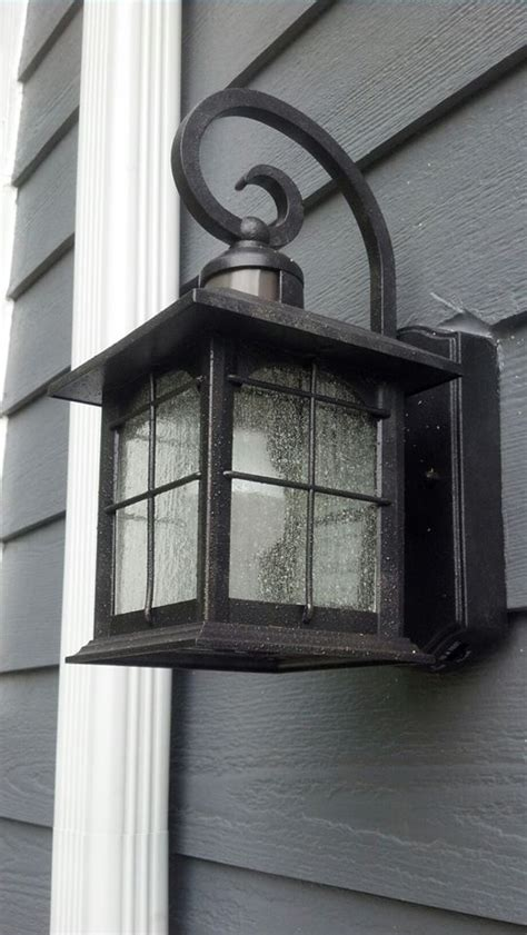 replace porch light with motion sensor front porch light motion sensor i used an led light