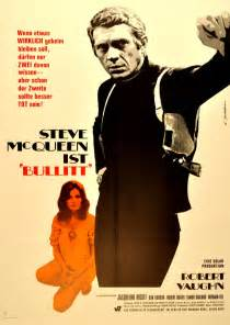 Scharl bullitt original film poster for the award winning movie