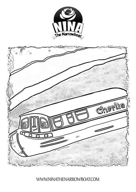 cartoon narrow boat pictures narrowboats free colouring pages