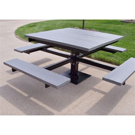 commercial picnic benches jayhawk plastics commercial recycled plastic t picnic