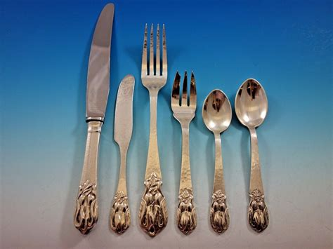 Handmade Sterling Silver Flatware - blossom by carl petersen canada sterling silver flatware