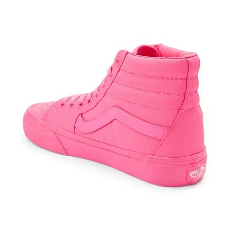 vans sk8 hi skate shoe pink 498895