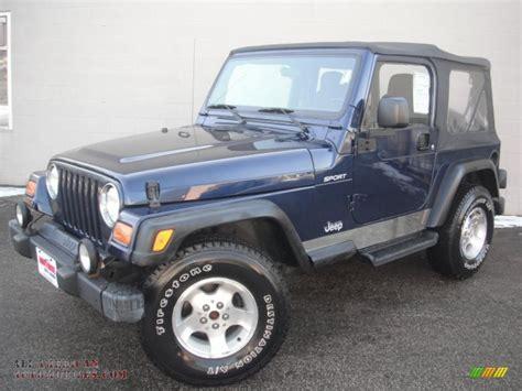 Blue Grey Jeep Wrangler 2003 Jeep Wrangler Sport 4x4 In Patriot Blue Photo 7