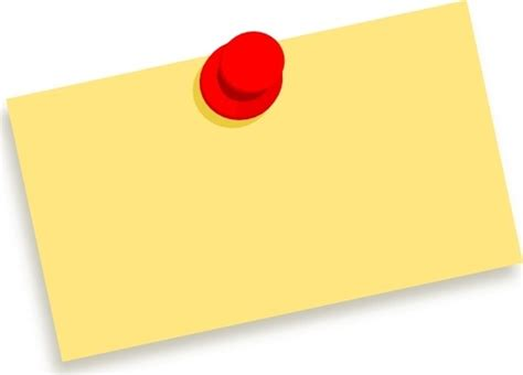 Blank Sticky Note Clip Art Free Vector In Open Office Drawing Svg Svg Format Format For Thumbtack Template
