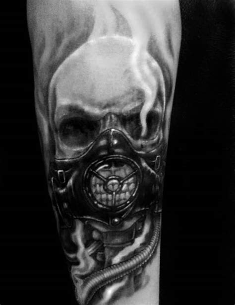 gas mask tattoo 29 amazing gas mask tattoos