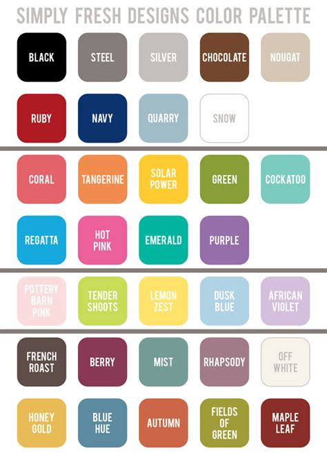 fun colors easy ordering new fun colors simply fresh designs