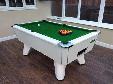 supreme winner pool table white with free uk delivery iq