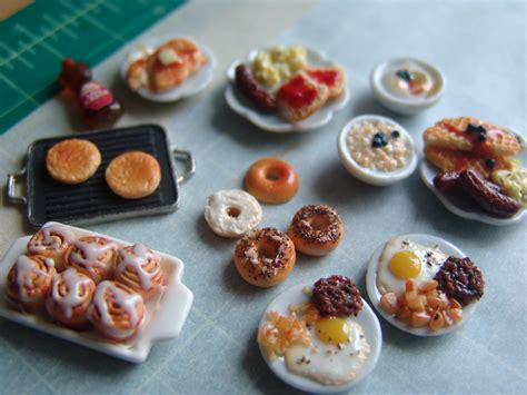Making Dollhouse Miniature Oatmeal And Other Breakfast
