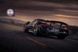 918 Porsche Spyder Black Porsche 918 Spyder Weissach Adorned With Hre Wheels