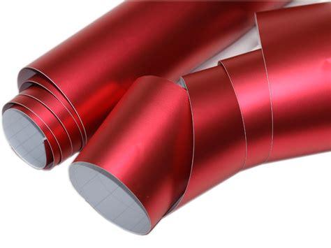 Folie Metallic Rot by Rot Chrom Matt Metallic 700cm X 152cm Blasenfrei