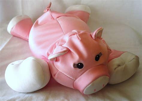 moshi pig brentwood microbead pillow stuffed animal pink