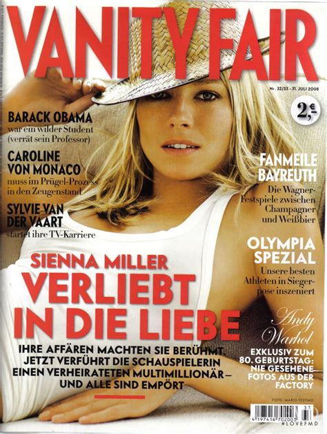 Cover Of Vanity Fair by Cover Of Vanity Fair Germany With Miller July 2008
