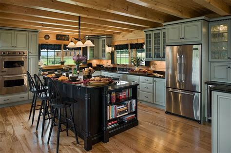 home kitchens designs log cabin kitchens with modern and rustic style