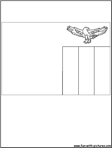 zambia flag free colouring pages