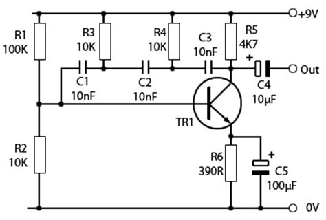 transistor lifier phase shift rc phase shift oscillators