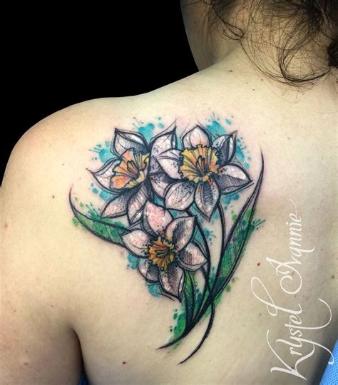 narcissus flower tattoo designs best 25 narcissus flower tattoos ideas on