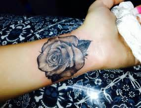 inner arm rose tattoo realistic on wrist inner arm tattoos
