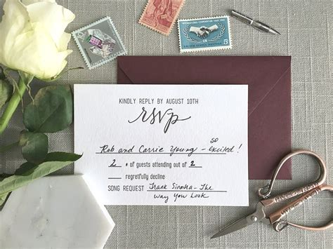 wedding invitation mr and guest elisaanne calligraphy