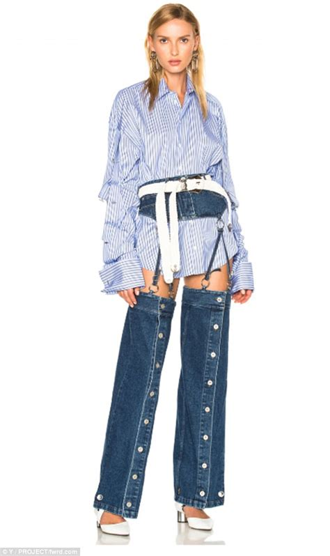 Denim Overalls The Next Big Trend by Brand Releases 163 450 Crotchless Daily Mail