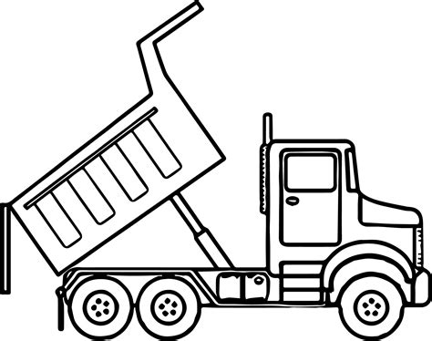 printable coloring pages dump truck scripted dump truck coloring page wecoloringpage